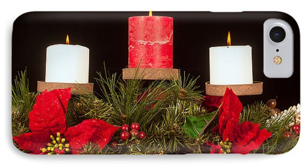 Christmas Candle Trio Phone Case by Kenneth Sponsler