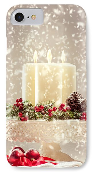 Christmas Candles IPhone Case by Amanda Elwell