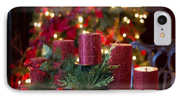 IPhone Case featuring the photograph Christmas Candles by Patricia Babbitt