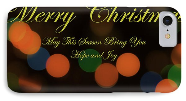 Christmas Card 1 IPhone Case by Peter Scott