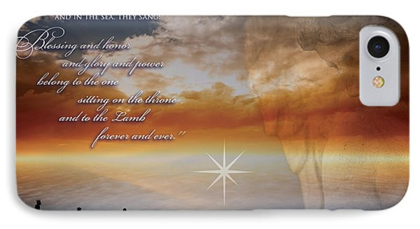 Watching Angel IPhone Case by Kathryn McBride