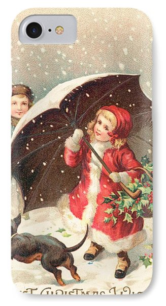 Christmas Card IPhone Case by British School