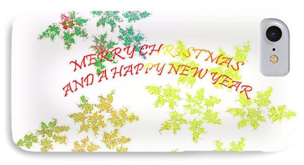 Christmas Card I Phone Case by Tatjana Popovska