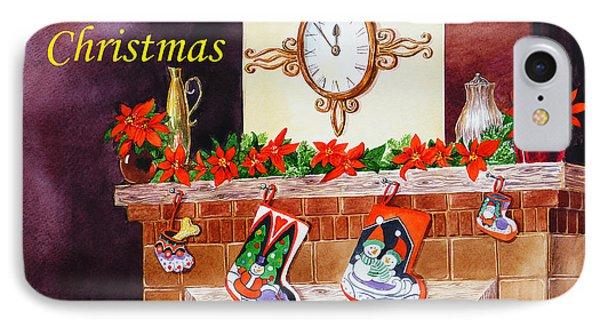 Christmas Card Phone Case by Irina Sztukowski
