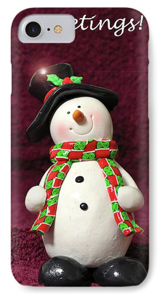 IPhone Case featuring the photograph Christmas Card - Santa Greetings by Larry Bishop