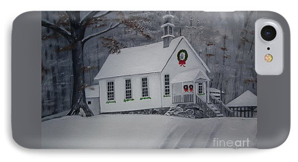 Christmas Card - Snow - Gates Chapel IPhone Case