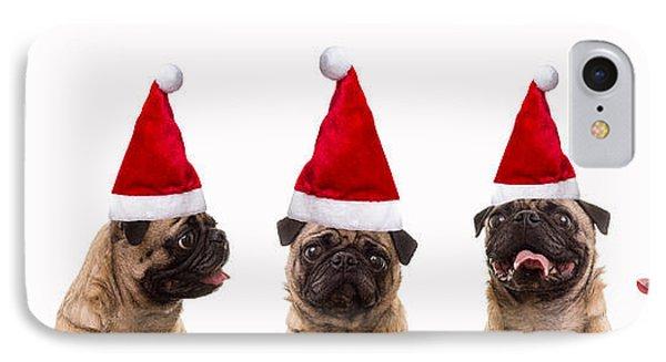 Christmas Caroling Dogs Phone Case by Edward Fielding