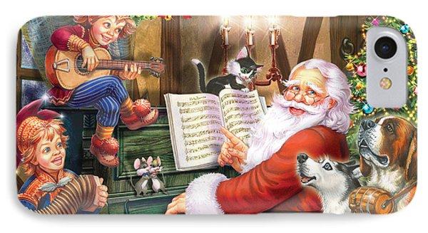 Christmas Carols IPhone Case by Zorina Baldescu