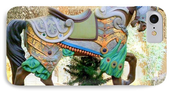Christmas Carousel Warrior Horse-1 Phone Case by Mary Deal