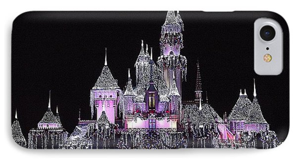 Christmas Castle Night IPhone Case by Nadalyn Larsen