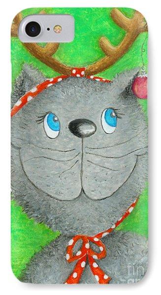 Christmas Cat Phone Case by Sonja Mengkowski