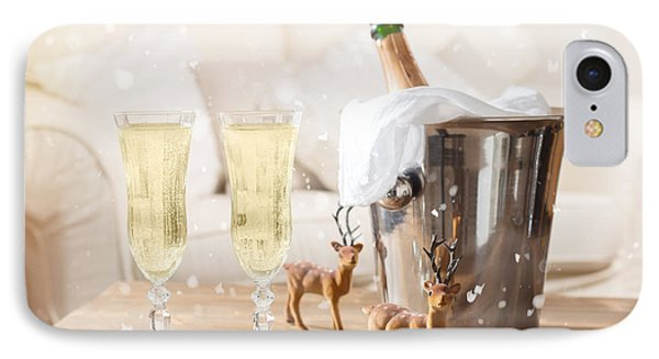 Christmas Champagne IPhone Case by Amanda Elwell