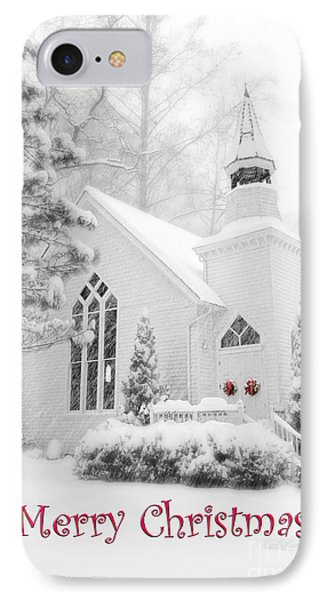 Historic Church Oella Maryland - Christmas Card IPhone Case by Vizual Studio