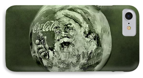 Christmas Coca Cola Phone Case by Dan Sproul