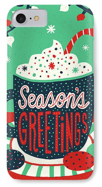 Christmas Cocoa IPhone Case by Michael Mullan