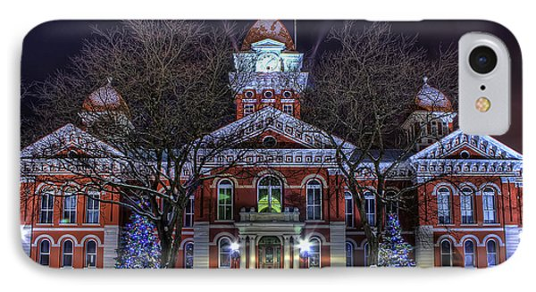 Christmas Courthouse IPhone Case by Scott Wood