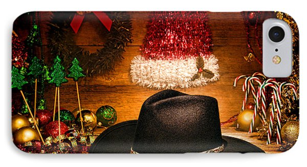 Christmas Cowboy Hat Phone Case by Olivier Le Queinec