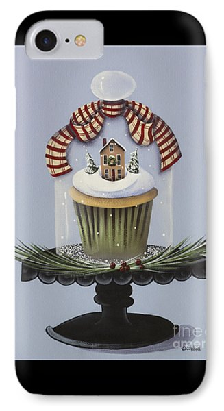 Christmas Cupcake IPhone Case by Catherine Holman