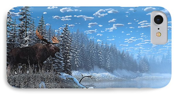 Christmas Day At Moose Lake IPhone Case by Ken Morris