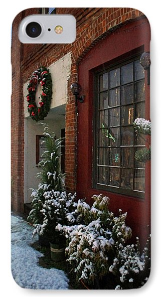Christmas Decorations In Grants Pass Old Town  Phone Case by Mick Anderson