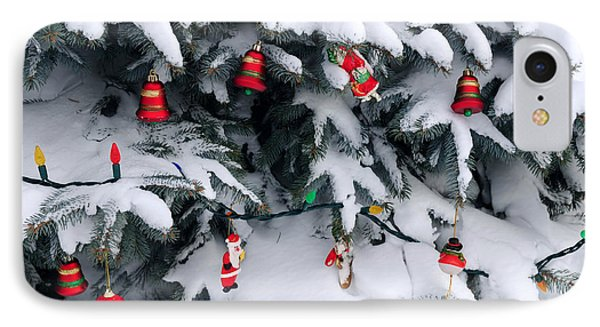 Christmas Decorations In Snow IPhone Case by Elena Elisseeva