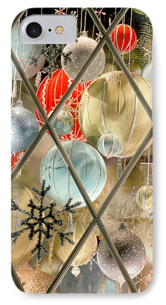 Christmas Decorations In Window IPhone Case by Anonymous