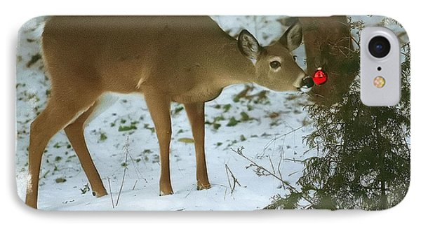 Christmas Doe IPhone Case by Clare VanderVeen