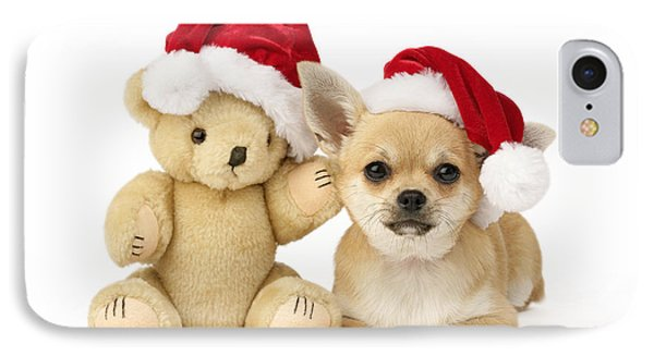 Christmas Dog And Teddy IPhone Case