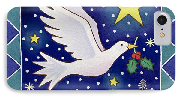Christmas Dove  IPhone 7 Case by Cathy Baxter