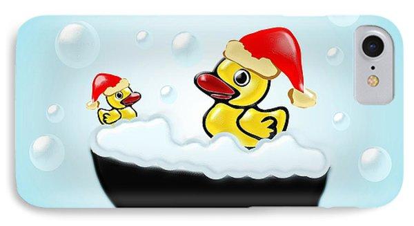 Christmas Ducks IPhone Case by Anastasiya Malakhova