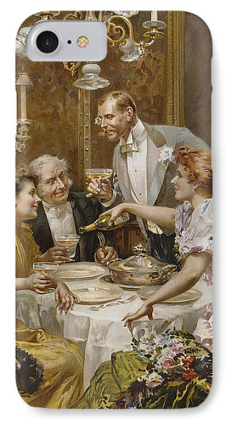 Christmas Eve Dinner In The Private Dining Room Of A Great Restaurant IPhone Case