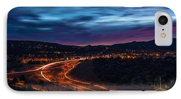 Christmas Eve Dusk IPhone Case by Theresa Rose Ditson