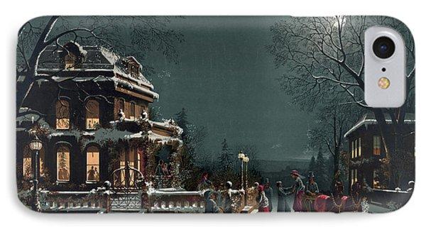 Christmas Eve Gathering IPhone Case
