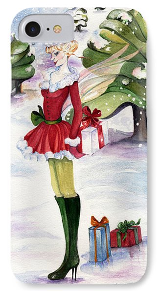 Christmas Fantasy  IPhone Case by Nadine Dennis