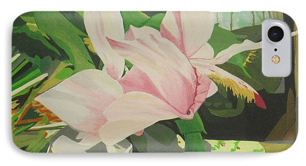 IPhone Case featuring the painting Christmas Flower by Hilda and Jose Garrancho