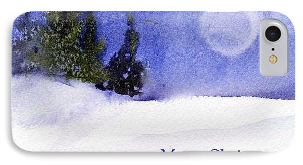 IPhone Case featuring the painting Christmas Forest  03 by Anne Duke