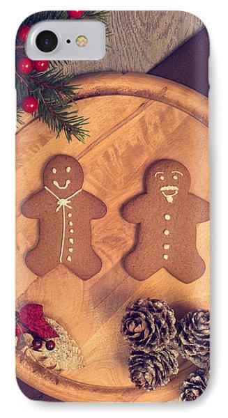 Christmas Gingerbread IPhone Case by Amanda Elwell