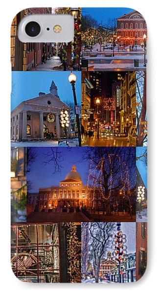 Christmas In Boston IPhone Case by Joann Vitali