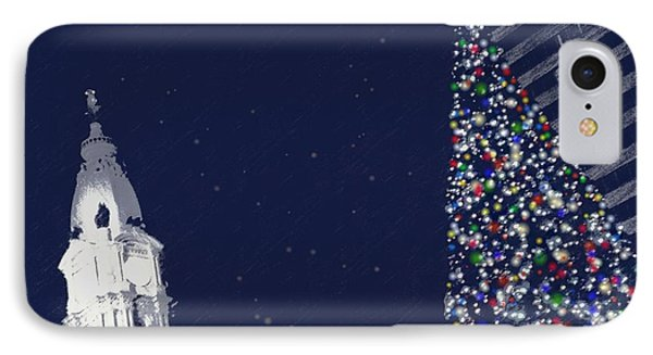 Christmas In Center City IPhone Case by Photographic Arts And Design Studio