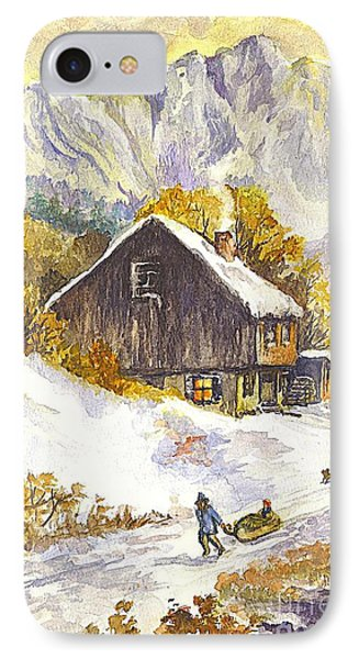 A Winter Wonderland Part 1 IPhone Case by Carol Wisniewski
