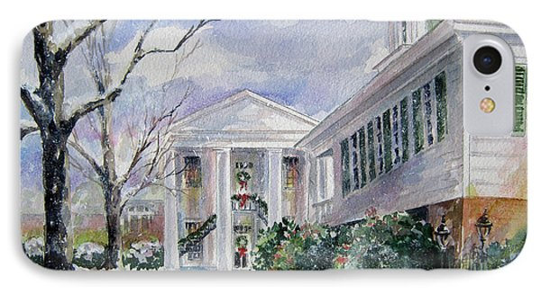 Christmas In Cheraw Prints IPhone Case by Gloria Turner
