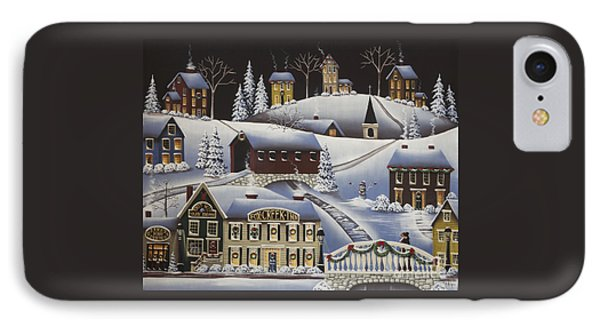 Christmas In Fox Creek Village Phone Case by Catherine Holman