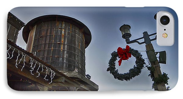 Christmas In Old Town Temecula 1 IPhone Case by Tommy Anderson