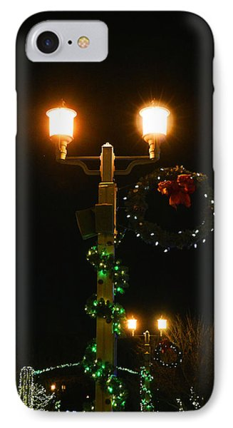 Christmas In Old Town Temecula 2 IPhone Case by Tommy Anderson