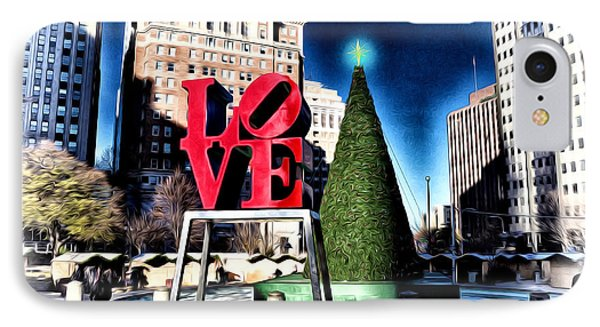 Christmas In Philadelphia Phone Case by Bill Cannon