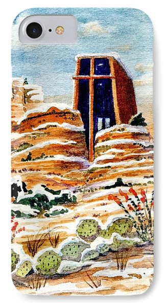 Christmas In Sedona IPhone Case by Marilyn Smith