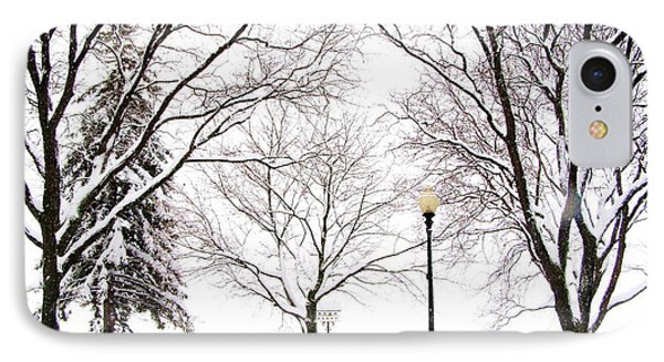 IPhone Case featuring the photograph Christmas In Skaneateles by Margie Amberge