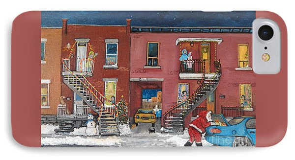 Christmas In The City IPhone Case by Reb Frost