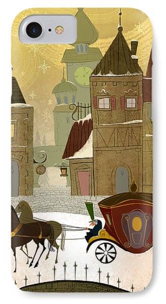 Christmas In The Old World IPhone Case by Kristina Vardazaryan