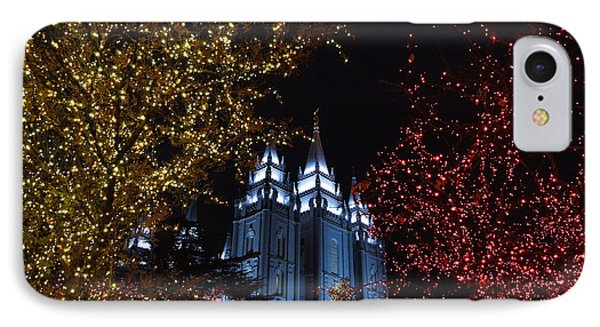 Christmas In The Temple IPhone Case by Gloria Pasko